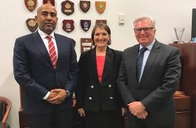 سفير الدولة يلتقي نائب رئيس لجنة الصداقة الأسترالية العربية في البرلمان