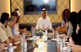اللجنة العسكرية المنظمة لمعرض دبي للطيران تقف على آخر التجهيزات