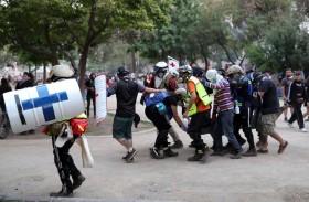 تظاهرات وأعمال عنف في تشيلي