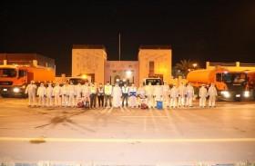 بلدية الحمرية تباشر ولليوم الخامس برنامج التعقيم الوطني