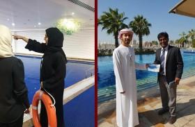 بلدية مدينة أبوظبي تنظم حملة توعوية ميدانية بشأن التعريف بأخطار المسابح على الأطفال