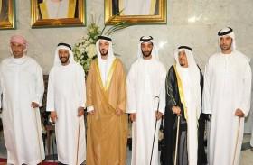 خالد بن سلطان بن زايد يحضر أفراح الجنيبي والساعدي