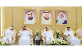 حاكم عجمان وولي عهده يستقبلان جموع المهنئين بمناسبة شهر رمضان