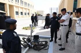 الرميثي يطلع على جهود التحسين والتطوير في إدارة الأسلحة والمتفجرات