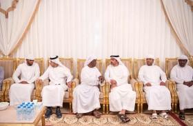 حامد وخالد بن زايد يقدمان واجب العزاء إلى أسرة شهيد الوطن علي خليفة هاشل المسماري