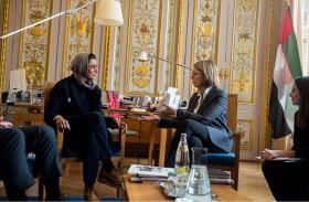 نورة الكعبي تبحث مع وزيرة الثقافة الفرنسية أطر التعاون الثقافي بين البلدين
