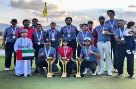الإمارات تحصد 8 ميداليات ملونة في خليجية الجولف منها ثلاث ذهبيات