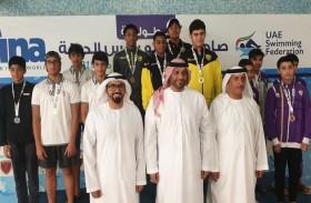 رقم قياسي جديد للدولة وإحدى وثلاثون ميدالية ملونة لسباحة نادي تراث الإمارات