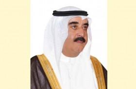 حاكم أم القيوين يعزي الرئيس المصري فى الهجوم الإرهابى شمال سيناء