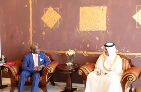 حاكم رأس الخيمة يستقبل سفير مالاوي