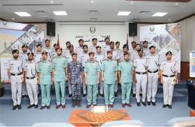 قائد عام شرطة عجمان يحضر حفل تخريج دورة الإعداد الأساسي للمستجدين الرابعة