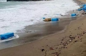 كوكايين بمليوني دولار على رمال الشاطئ