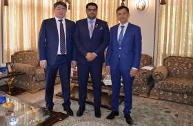 سفير الدولة يلتقي نائب وزير الاقتصاد الوطني في كازاخستان