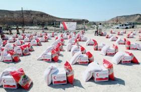 أكثر من 48 طنا من المواد الغذائية مساعدات إماراتية لأهالي حضرموت
