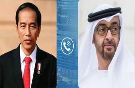 محمد بن زايد والرئيس الإندونيسي يتبادلان هاتفيا التهاني بعيد الأضحى المبارك