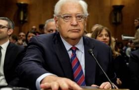 غضب فلسطيني من تصريحات السفير الأمريكي في إسرائيل