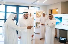 حمدان بن زايد يزور مشروع شاطئ المرفأ السكني البالغ تكلفته 1.3 مليار درهم