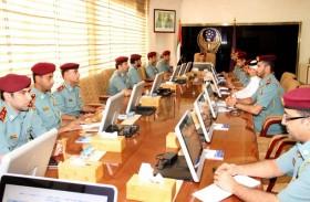 لجنة القيادة العليا الداخلية بشرطة عجمان تناقش سبل رفع مستويات التميز