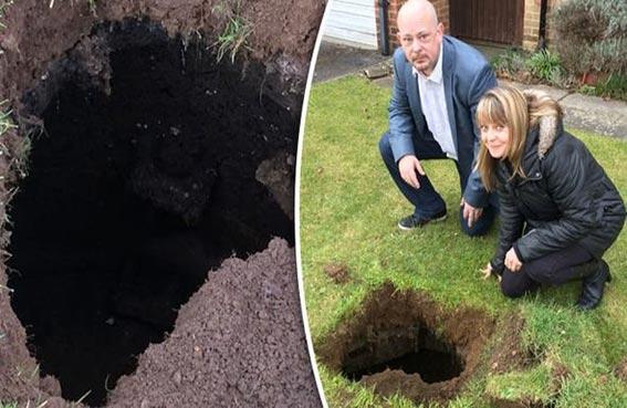 يعثران على كهف تحت حديقة منزلهما