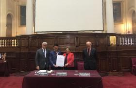 البرلمان البيروفي يكرم سفير الدولة