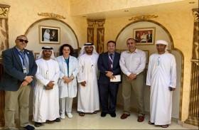 بلدية مدينة أبوظبي تعزز علاقات التعاون وتبادل الخبرات مع مستشفى الصقور في أبوظبي