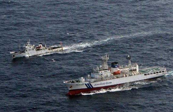 سفينة صينية تدخل مياه اليابان