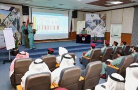 شرطة عجمان تناقش سبل تعزيز العمل الشرطي والأمني