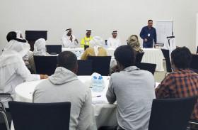 بلدية مدينة أبوظبي توعي المقاولين والاستشاريين بمخالفات قانون البناء في الشهامة