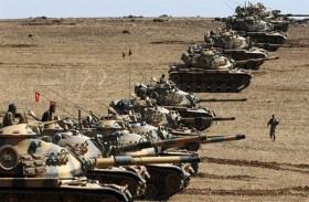 دبابات تركية تصوب مدافعها تجاه شمال العراق