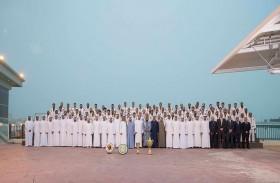 محمد بن زايد يستقبل الفائزين في بطولة سموه للجوجيتسو على مستوى القوات المسلحة