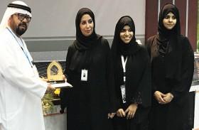 كليات التقنية العليا تمنح درعها التطوعي لفريق واجب  في ابوظبي