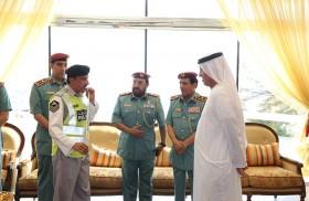 سعود بن صقر يشيد بمبادرة الشرطي المتميز بشرطة رأس الخيمة