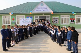 وفد من خيرية الشارقة يتفقد مشاريع الجمعية في طاجيكستان