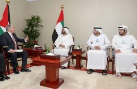 محمد بن راشد يتلقى رسالة خطية من ملك الأردن