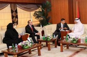 غرفة عجمان تبحث التعاون المشترك مع شركة الاتحاد لائتمان الصادرات