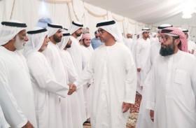 حامد بن زايد يقدم واجب العزاء لذوي الشهيدين ناصر الكعبي وسعيد المنصوري
