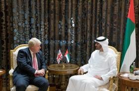 محمد بن زايد يبحث مع وزير الخارجية البريطاني العلاقات الثنائية والأوضاع على الساحتين الإقليمية والدولية