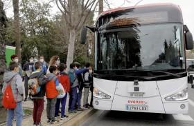 حافلة ذاتية القيادة في ملقة الإسبانية