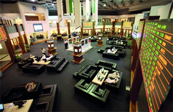 قيمة تداولات سوق دبي المالي تقفز إلى 1.1 مليار درهم ومؤشره يرتفع بنسبة 0.5 % في ختام جلسة امس