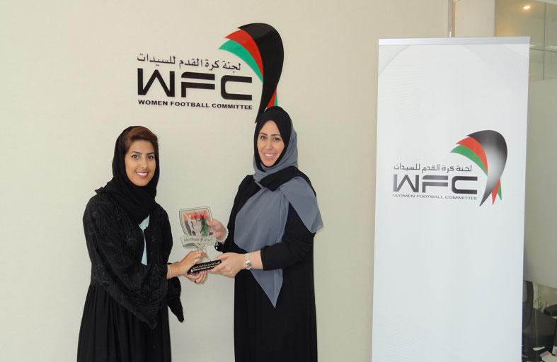 أكاديمية فاطمة بنت مبارك للرياضة النسائية ولجنة كرة القدم للسيدات يبحثان التعاون المشترك للموسم الرياضي المقبل
