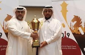 عمر نعمان يتوج بكأس الإمارات  للشطرنج السريع