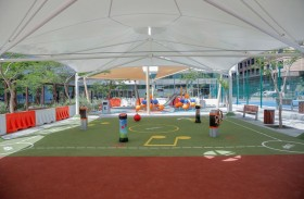 بلدية مدينة أبوظبي تنشئ منطقة ألعاب رياضية جديدة على كورنيش أبوظبي