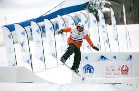 تفوق استرالي وبريطاني في بطولة الإمارات الوطنية الأولى للتزلج على الجليد