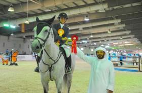 انطلاق بطولة الشيخ مبارك بن محمد آل نهيان لقفز الحواجز