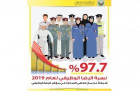 شرطة عجمان تحقق 97.7 في المئة في مؤشر الرضا الوظيفي عام 2019