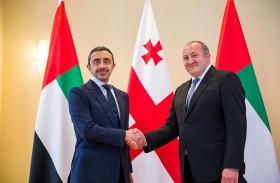 رئيس جورجيا يستقبل عبدالله بن زايد