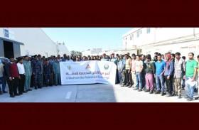 حملة توعوية: للمشاة حق في عبور الطريق بأمر مرور رأس الخيمة