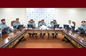 اجتماع القيادة العليا لشرطة رأس الخيمة يناقش نتائج الميادرات 2019