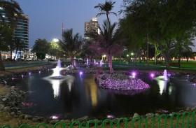 بلدية مدينة أبوظبي تؤهل البحيرات الاصطناعية في حدائق النرجيل بأبوظبي