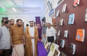 سالم القاسمي يزور معرض إصدارات حاكم الشارقة بجامعة كاليكوت الهندية